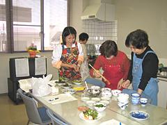 調理教室の風景